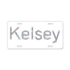 Kelsey Paper Clips Aluminum License Plate