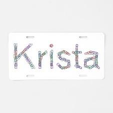 Krista Paper Clips Aluminum License Plate
