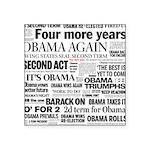 Obama Re-Elected Headline Square Sticker 3