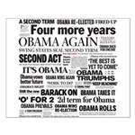 Obama Re-Elected Headline Small Poster
