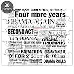 Obama Re-Elected Headline Puzzle