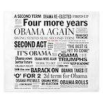 Obama Re-Elected Headline King Duvet