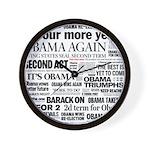 Obama Re-Elected Headline Wall Clock