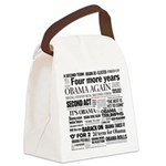 Obama Re-Elected Headline Canvas Lunch Bag