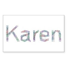 Karen Paper Clips Rectangle Decal