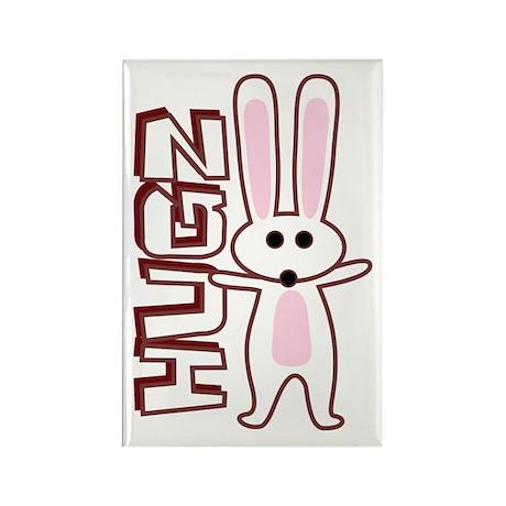 Bunny Hugz Hugs Cute Easter Design Rectangle Magne