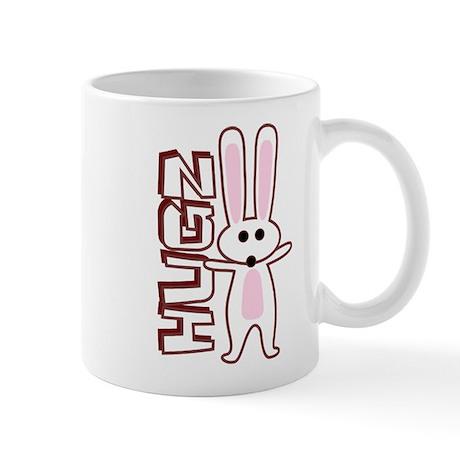 Bunny Hugz Hugs Cute Easter Design Mug