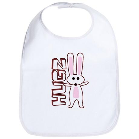 Bunny Hugz Hugs Cute Easter Design Bib