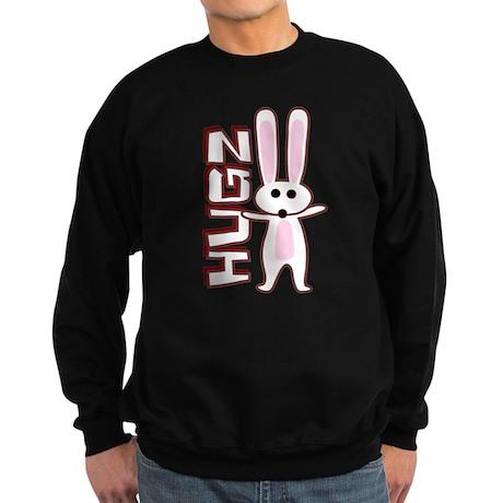 Bunny Hugz Hugs Cute Easter Design Sweatshirt (dar