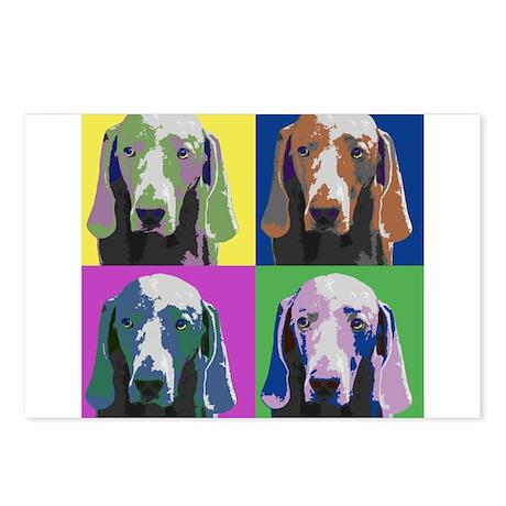 Weimaraner a la Warhol Postcards (Package of 8)