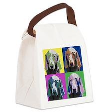 Weimaraner a la Warhol Canvas Lunch Bag