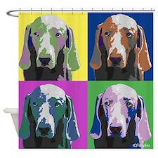Weimaraner a la Warhol Shower Curtain