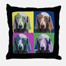 Weimaraner a la Warhol Throw Pillow
