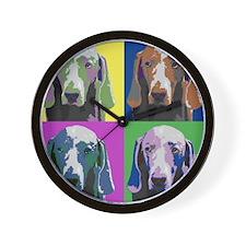 Weimaraner a la Warhol Wall Clock