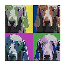 Weimaraner a la Warhol Tile Coaster