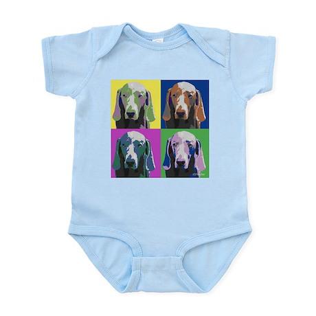 Weimaraner a la Warhol Infant Bodysuit