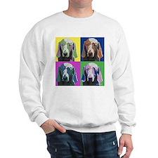 Weimaraner a la Warhol Sweatshirt