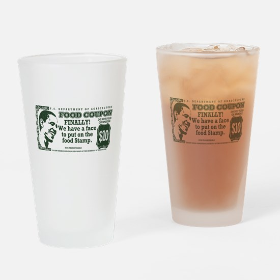 Obama The foodstamp president Drinking Glass