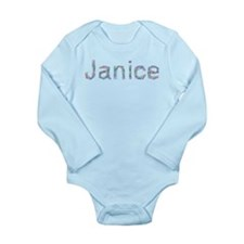 Janice Paper Clips Long Sleeve Infant Bodysuit
