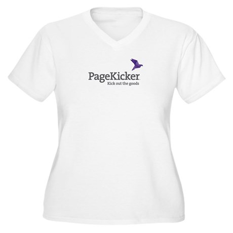 PageKicker Women's Plus Size V-Neck T-Shirt