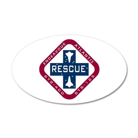 STS-400 Endeavour RESCUE! 20x12 Oval Wall Decal