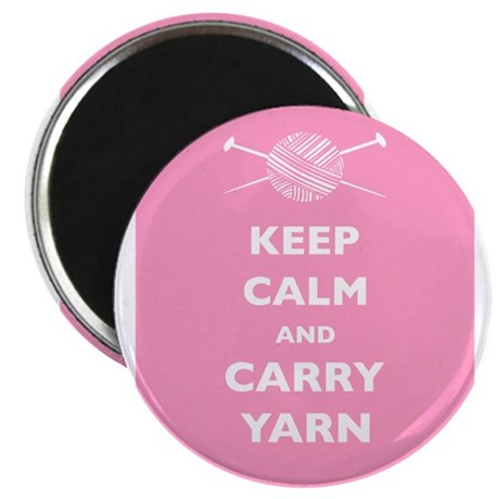 """Keep Calm Carry Yarn 2.25"""" Magnet (10 pack)"""