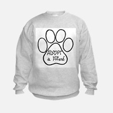 Adopt a friend pawprint Sweatshirt