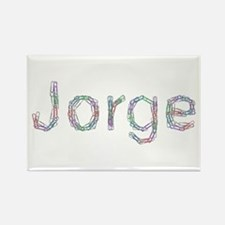 Jorge Paper Clips Rectangle Magnet