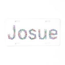 Josue Paper Clips Aluminum License Plate