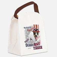DemocRAT TERRIER Canvas Lunch Bag