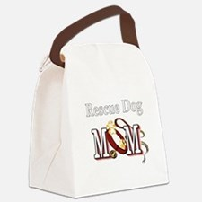 1 rescue dog darks.png Canvas Lunch Bag