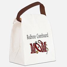redbone coonhound mom darks.png Canvas Lunch Bag