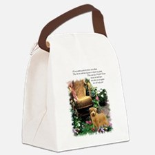norfolk terrier garden 1.png Canvas Lunch Bag