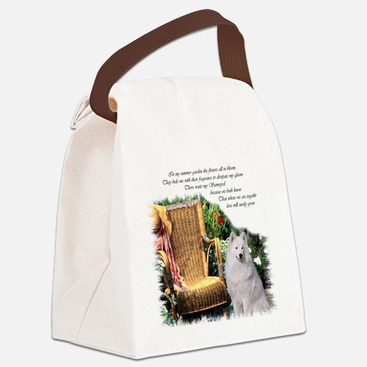 Samoyed Art Canvas Lunch Bag