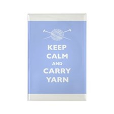 Keep Calm Carry Yarn Rectangle Magnet