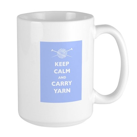 Keep Calm Carry Yarn Large Mug