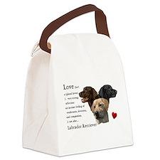 Labrador Retriever Love Canvas Lunch Bag