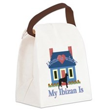 Ibizan Home Is Canvas Lunch Bag