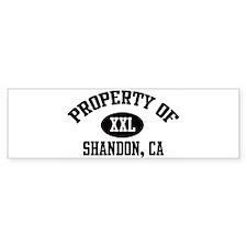 Property of SHANDON Bumper Bumper Sticker