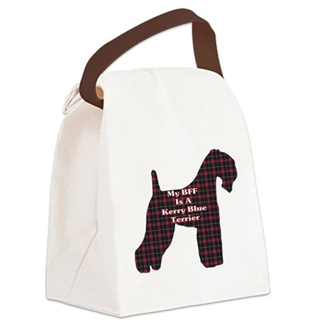 BFF Kerry Blue Terrier Canvas Lunch Bag