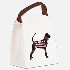 BFF Redbone Coonhound Canvas Lunch Bag