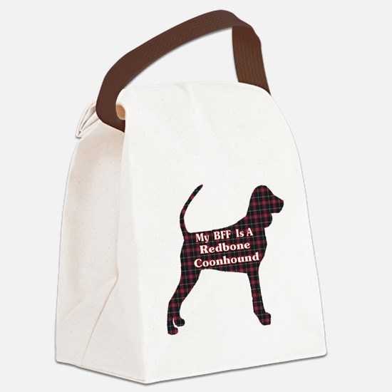 BFF Redbone Coonhound Canvas Lunch Bag