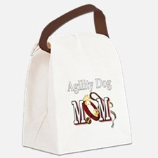 1 agility dog mom darks.png Canvas Lunch Bag