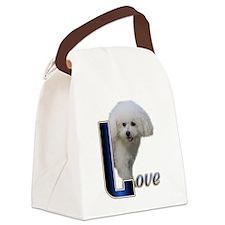 Bichon Frise Love Canvas Lunch Bag