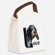 Bluetick Coonhound Love Canvas Lunch Bag