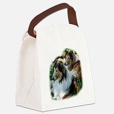 Rough Sable Collies Canvas Lunch Bag