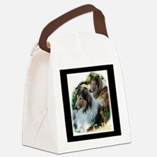 collies text smudge.png Canvas Lunch Bag