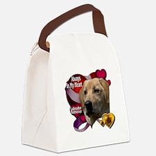 Cute Yellow labrador retriever Canvas Lunch Bag