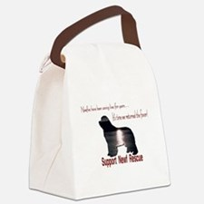 Support Newf Rescue Canvas Lunch Bag