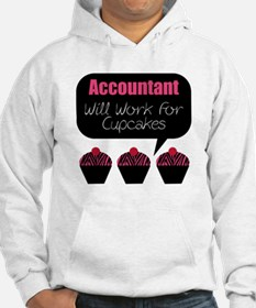 Accountant Will Work For Cupcakes Hoodie